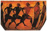 Αγώνας δρόμου ενός σταδίου (σταδιοδρομία), παράσταση σε μελανόμορφο αμφορέα του 540-530 π.Χ.