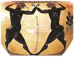 Αγώνας πυγμαχίας, παράσταση σε μελανόμορφο αμφορέα του 520-510 π.Χ.